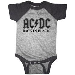 Acdc - Unisex-Baby Bib In Black Onesie