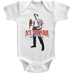 Ace Ventura - Unisex-Baby Red Black Blue Ace Onesie