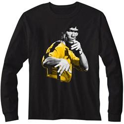 Bruce Lee - Mens Hooowah Long Sleeve T-Shirt