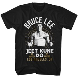 Bruce Lee - Mens White Gold T-Shirt