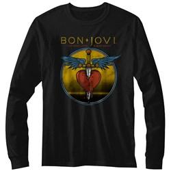 Bon Jovi - Mens Bad Name Long Sleeve T-Shirt