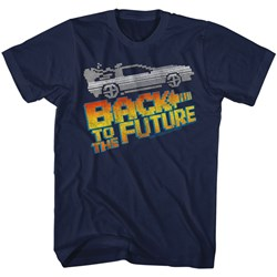 Back To The Future - Mens 8Bit To The Future T-Shirt