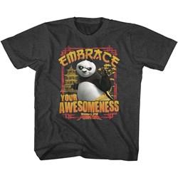 Kung Fu Panda - Unisex-Child Embrace Awesomeness T-Shirt