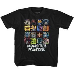 Monster Hunter - Unisex-Child Symbols T-Shirt