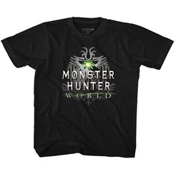 Monster Hunter - Unisex-Child Mhw Logo T-Shirt