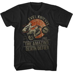 Evel Knievel - Mens Death Defier T-Shirt