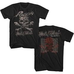 Poison - Mens Flesh & Blood World Tour T-Shirt