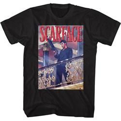 Scarface - Mens Railing Shot T-Shirt