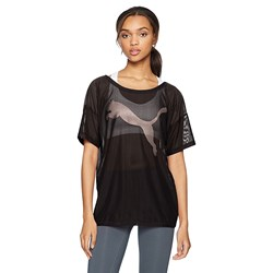 Puma Womens Dancer Drapey Tee Mesh