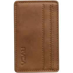 RVCA Mens Clean Card Leather Wallet