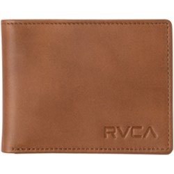 RVCA Mens Crest Bifold Leather Wallet