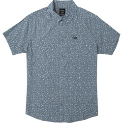 RVCA Mens Pin And Needles Short Buttondown