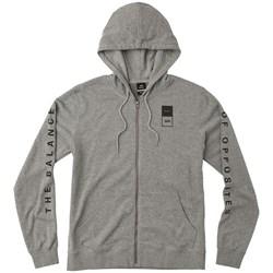 RVCA Mens Va Guard Fleece Hood Zip-Up Hoodie