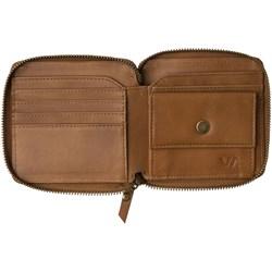 RVCA Mens Zip Around Leather Wallet