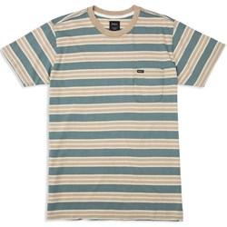 RVCA Mens Lucas Stripe Knit Short Sleeve T-Shirt