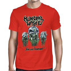 Municipal Waste - Mens Slime And Punishment Red T-Shirt