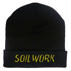 Soilwork - unisex-adult Embroidered Gold Logo 12in Beanie