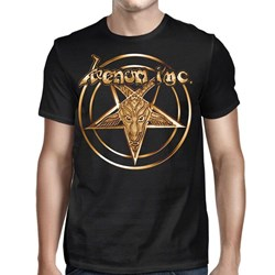 Venom Inc - Mens Pentagram Gold Logo T-Shirt