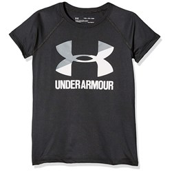 Under Armour - Girls Solid Big Logo SS T-Shirt