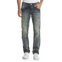 Rock Revival - Mens Moises J200 Straight Jeans