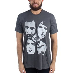 The Who - Mens Distressed Four Faces T-Shirt