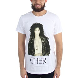Cher - Mens Leather Jacket T-Shirt