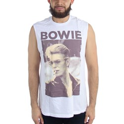 David Bowie - Mens Smoking Photo Sleeveless Tank Top