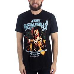 Jimi Hendrix - Mens Monterey Pop Psychedlic Paisley T-Shirt