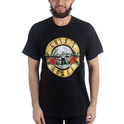 Guns N Roses - Mens Distressed Bullet T-Shirt