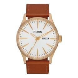 Nixon Men's Sentry Leather Analog Watch