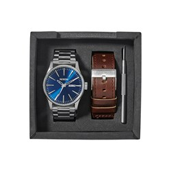 Nixon - Mens Sentry 42mm Leather Watch Pack