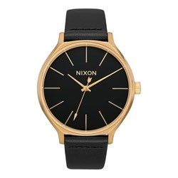 Nixon - Women's Clique Leather Analog Watch