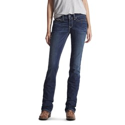 Ariat - Womens Real Straight Icon Denim Jeans