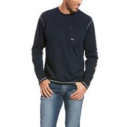 Ariat - Mens Rebar Ls Logo Work Rebar Knit Shirt