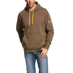 Ariat - Mens Rebar Logo Hoodie Work Rebar Mid Layer