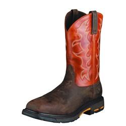 Ariat - Mens Workhog Steel Toe Western Work Shoes