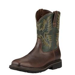 Ariat - Mens Sierra Steel Toe Western Work Shoes