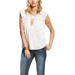 Ariat - Womens Libby Top Snow White