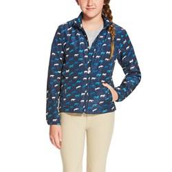 Ariat - Girls Laurel Jacket Navy Horse Print