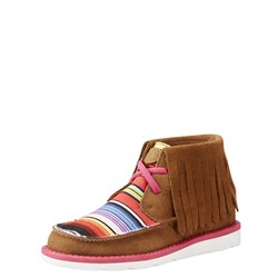 Ariat - Youth Cruiser Fringe Drk Peant/Pink Serape Shoes