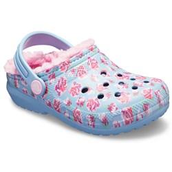 Crocs - Unisex-Child Kids' Classic Fuzz Lined Graphic Clog Shoes