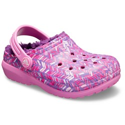 Crocs - Unisex-Child Kids' Classic Fuzz Lined Graphic Clog Shoes