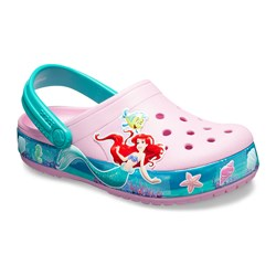 Crocs Kids' Crocband Princess Ariel Clogs