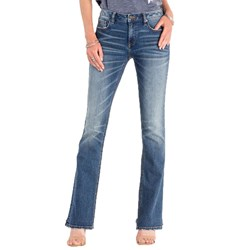 Miss Me - Womens M1001B143 Basic 5Pkt  Mid-Rise Boot Cut Jeans