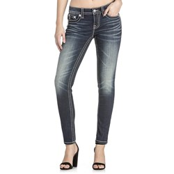 Miss Me - Womens M3211S Lace Midrise Mid-Rise Skinny Jeans
