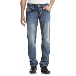 Rock Revival - Mens Abijah J201 Straight Leg Jeans