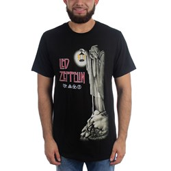 Led Zeppelin - Mens  Hermit Black T-shirt