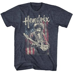 Jimi Hendrix - Mens Flag Hendrix T-Shirt