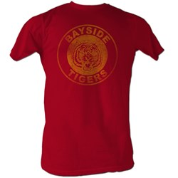 Saved By The Bell - Bayside Logo Mens T-Shirt In Cardinal