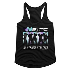 Nsync - womens Blue Purple Racerback Tank Top